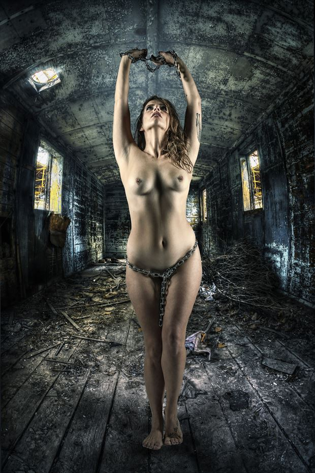 chained 3 artistic nude photo by photographer ken greenhorn