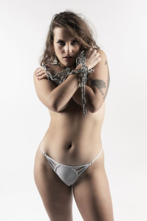 chained 5 artistic nude photo by photographer ken greenhorn