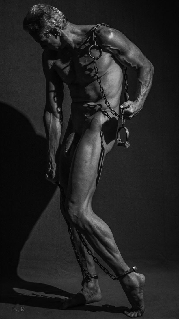 chained artistic nude photo by model artfitnessmodel