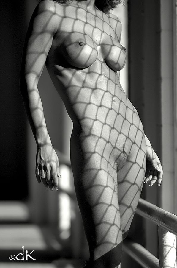 chained artistic nude photo by photographer dennis keim
