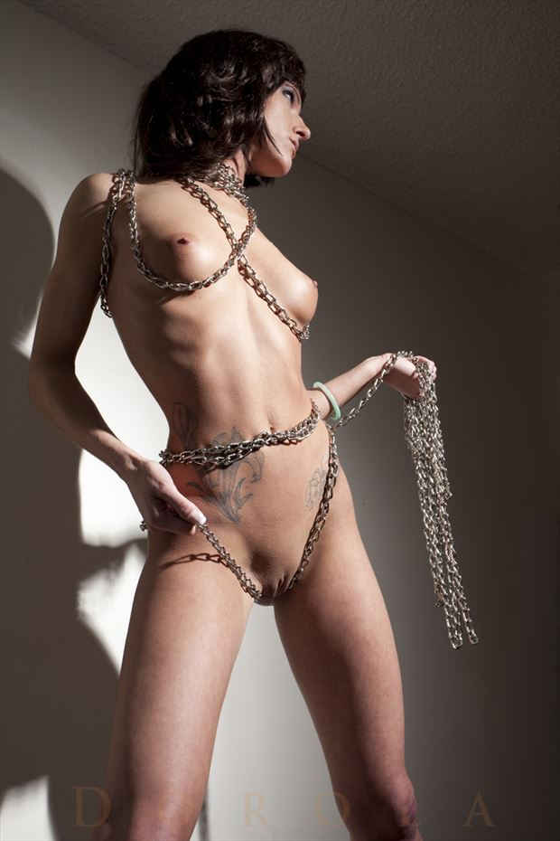 chained but not chained up artistic nude photo by model dorola visual artist
