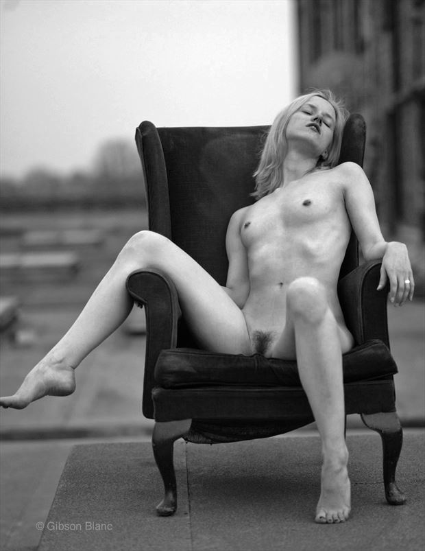 chair on a rooftop artistic nude photo by photographer gibson