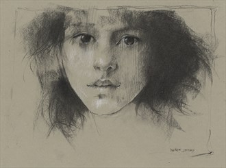 charcoal face Sensual Artwork by Artist JonD