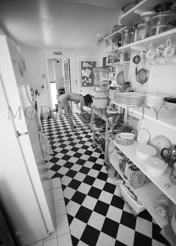checkers in the kitchen artistic nude photo by photographer michael grace martin