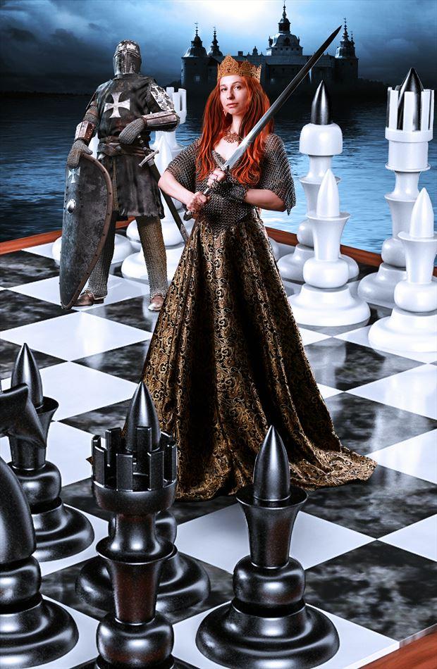 checkmate fantasy artwork by artist karinclaessonart