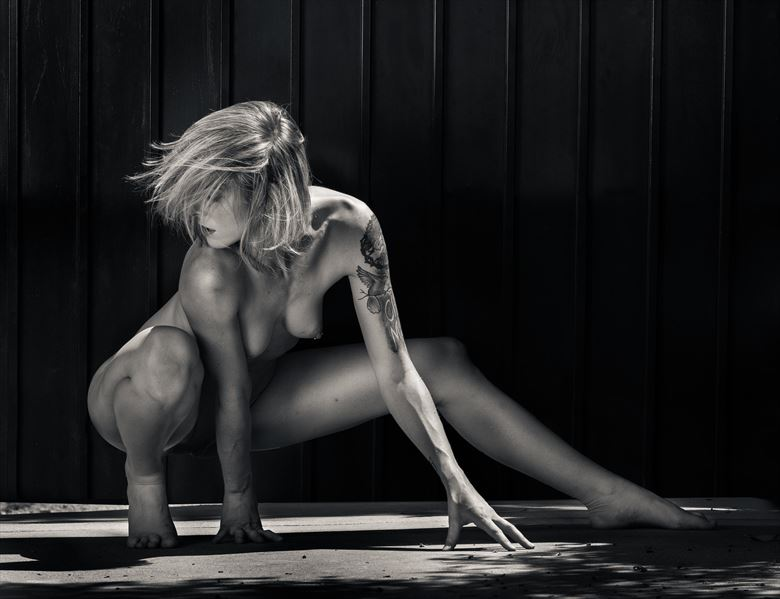 cherish crouching wild artistic nude photo by photographer thatzkatz