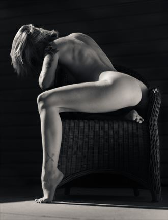 cherish in wicker chair artistic nude photo by photographer thatzkatz