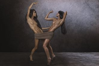 chey and jessa artistic nude photo by photographer dieter kaupp