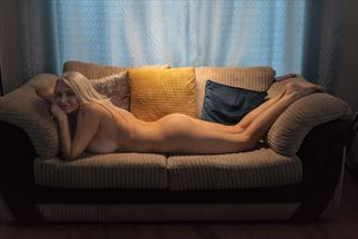 chillin on the couch artistic nude photo by photographer paul archer