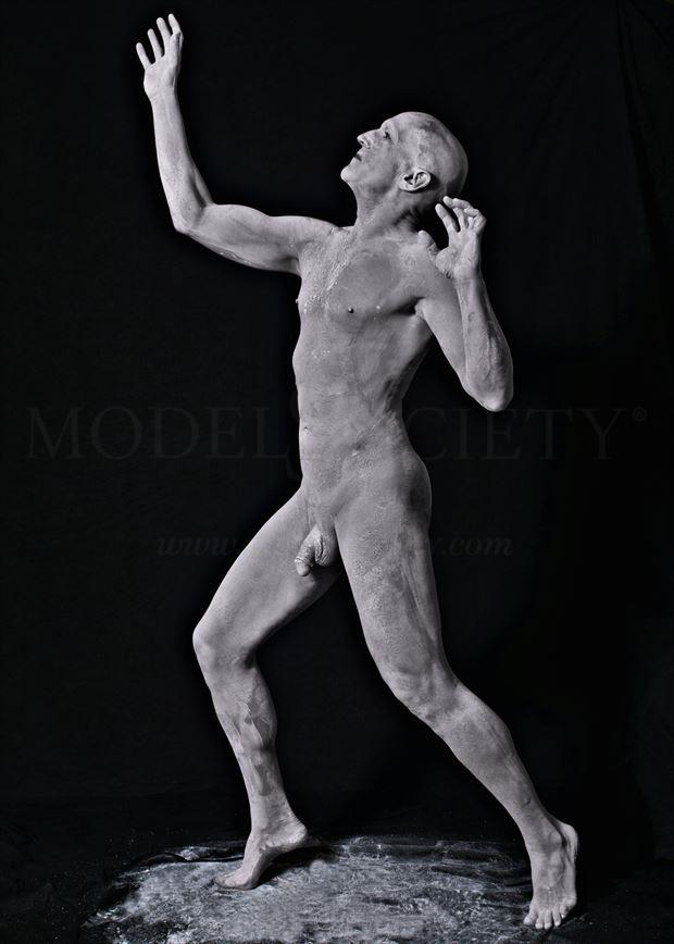 chiseled artistic nude photo by model avid light