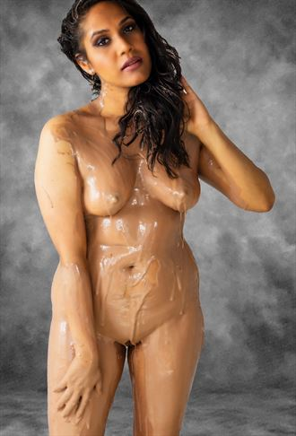 chocolate wrap artistic nude photo by photographer gee virdi
