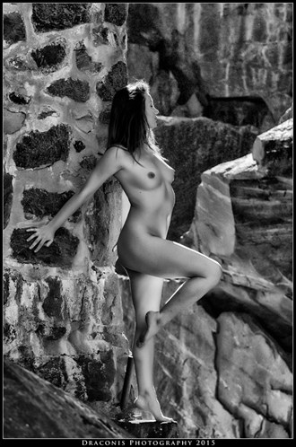 christelle at the ruins artistic nude photo by photographer dziban draconis