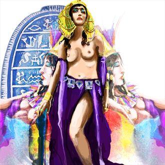 cleopatra 1 surreal artwork by artist nick kozis