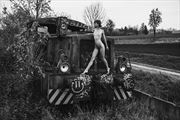 climbing the locomotive artistic nude photo by photographer sk photo