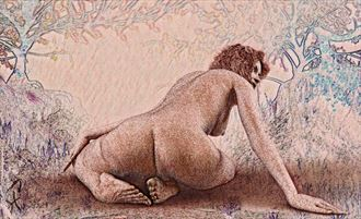 close to nature artistic nude artwork by artist derbuettner