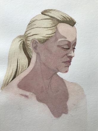 close up portrait artwork by artist rickgordon