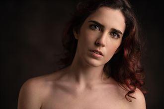 close up portrait glamour photo by model chiara_kia