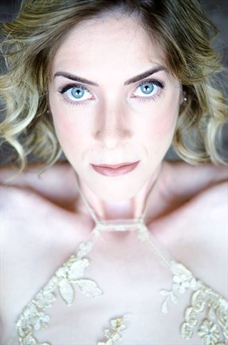 close up portrait photo by model cherish the model