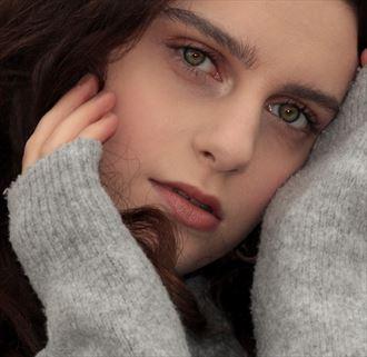 close up self portrait photo by model ava nicholson