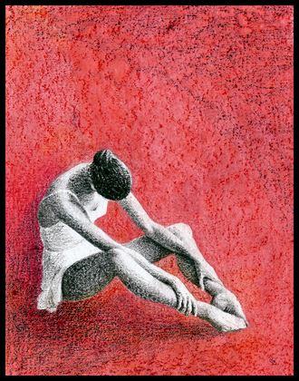 coeur fragile figure study artwork by artist subhankar biswas