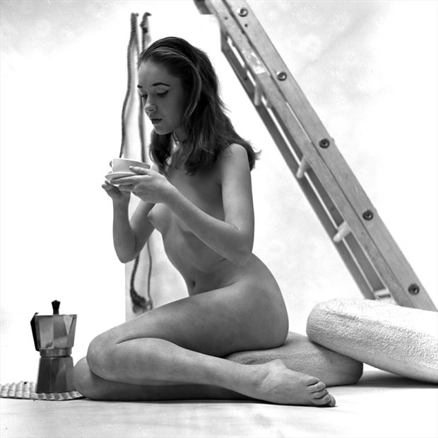 coffee break 1958 vintage style photo by artist jean jacques andre