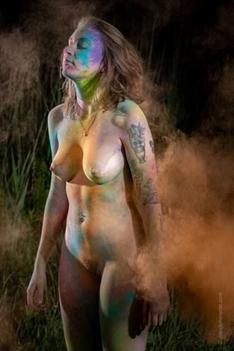 colorful artistic nude photo by photographer claude frenette