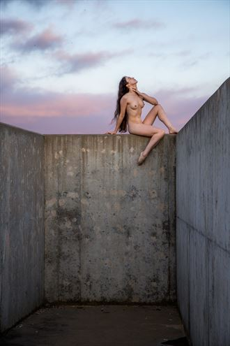 concrete and sky artistic nude photo by photographer dave providence