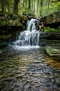 connecticut falls with gazelle artistic nude photo by artist kevin stiles
