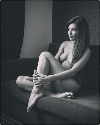 contemplating artistic nude photo by photographer lanes photography