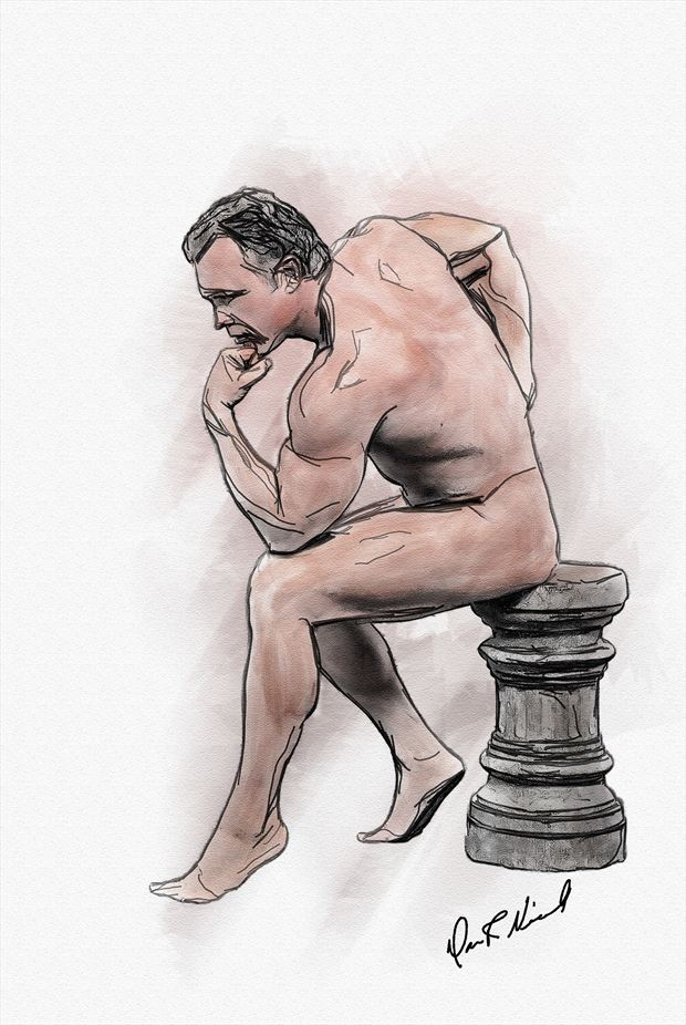 contemplation artistic nude artwork by photographer dnicoll