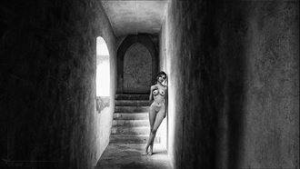 corridor light artistic nude artwork by photographer kestrel