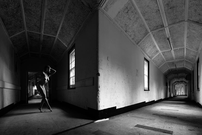 corridors of power artistic nude photo by model selkie