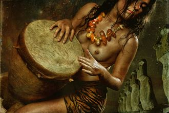 cosmic drummer artistic nude photo by photographer mykel