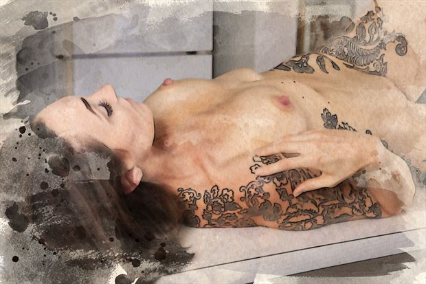 counter top delight artistic nude photo by photographer dpaphoto