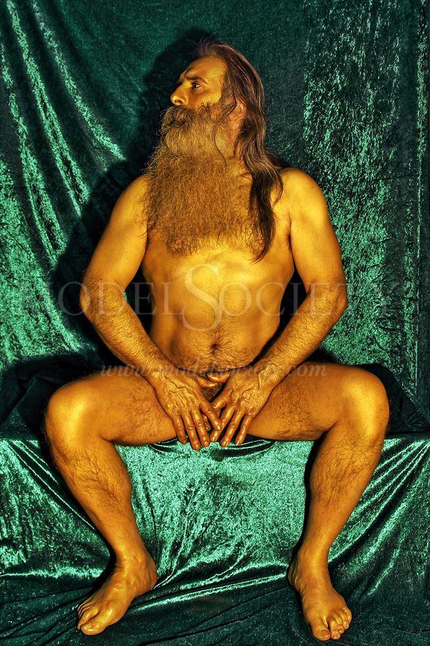 covered in gold artistic nude photo by model masterarti
