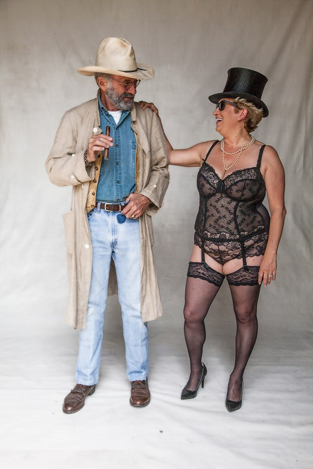 cowboy and showgirl Lingerie Photo by Photographer MHMSchreiber.photo