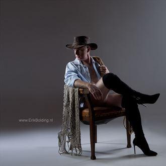 cowboy on heels fetish photo by photographer erik bolding