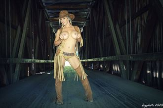 cowgirl bridge 1 artistic nude photo by photographer barry gallegos