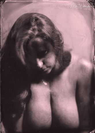 cr wet plate on 5x7 tintype artistic nude photo by photographer mike willingham