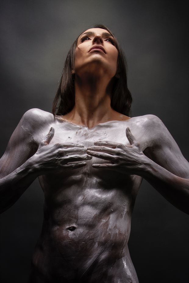 cracks 2 body painting photo by model bia