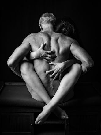 critical embrace artistic nude photo by artist artfitnessmodel