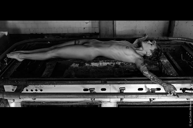 crucifix artistic nude artwork by photographer zoltan k