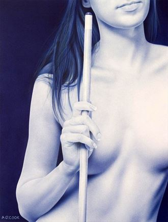 cue implied nude artwork by artist a d cook