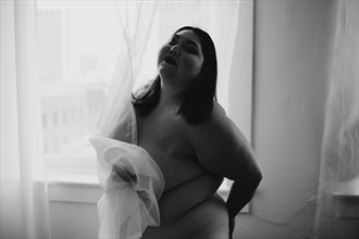 curtain i artistic nude photo by model adania reyes