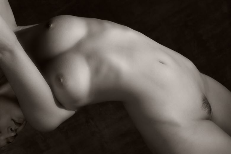 curved torso artistic nude photo by photographer milt reeder