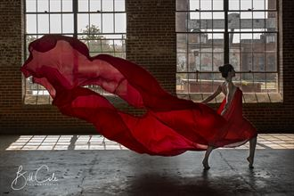 dakota in red sensual photo by photographer bill cole