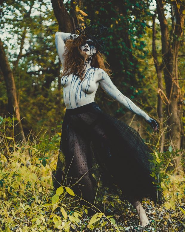 dance in the woods artistic nude photo by photographer zahndh23