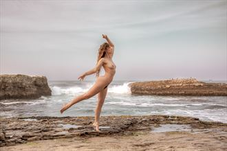 dancing along the golden shore artistic nude photo by photographer jonathan c