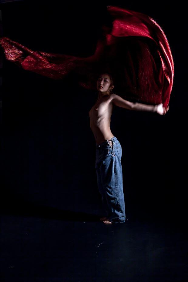 dancing artistic nude artwork by photographer yoga chang