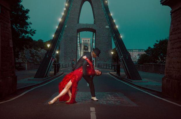 dancing upon the bridge sensual photo by model matriix